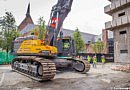 La démolition de l'hôpital Sint-Pieters de Louvain a officiellement commencé