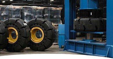 Heuver peut désormais presser des pneus pleins du génie civil